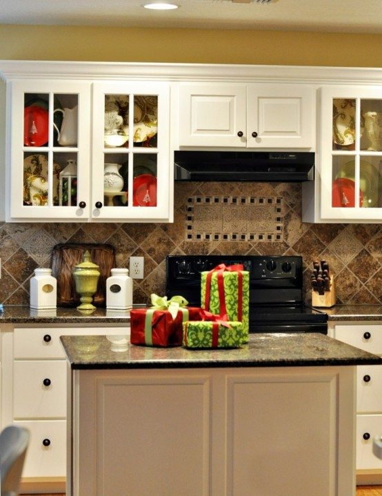 Kitchen Decor 40 cozy christmas kitchen décor ideas - digsdigs