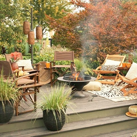 during fall your patio would look cozy no matter what especially if you have a fire - Patio Decor