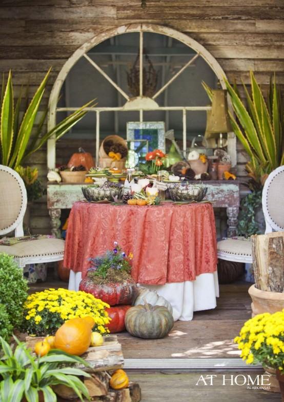 cozy fall patio decor ideas