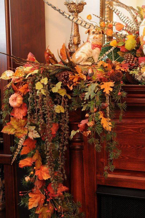 Cozy Fall Staircase Decor Ideas