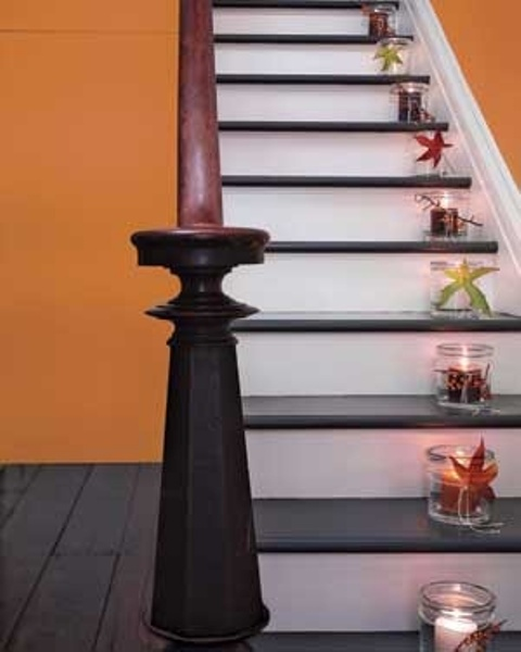 Colorful Staircase Designs 30 Ideas To Consider For A: 35 Cozy Fall Staircase Décor Ideas