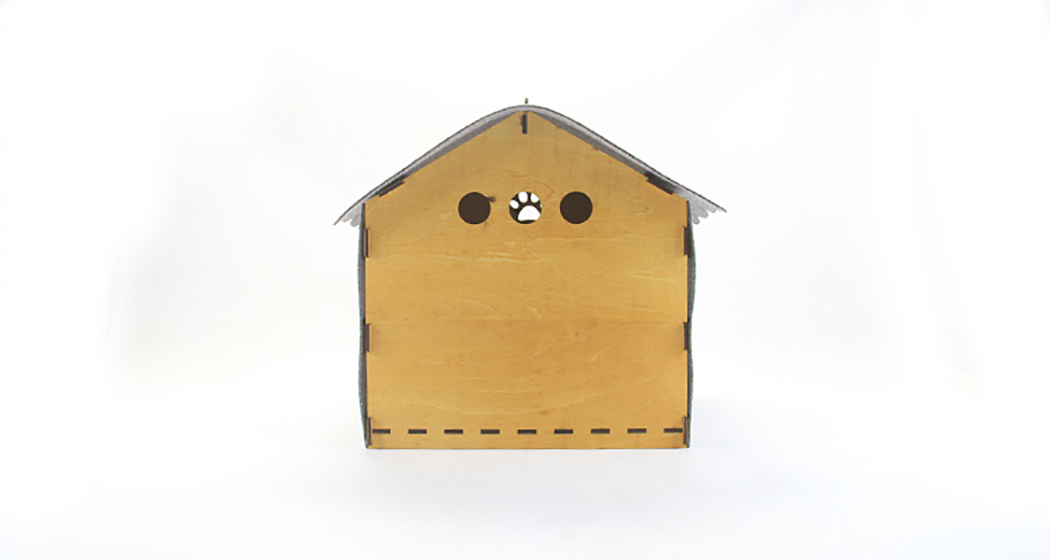 Picture Of cozy kitty digs from wood and felt  7