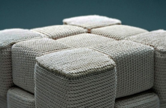 Cozy Knitted And Crocheted Furniture By Monomoka