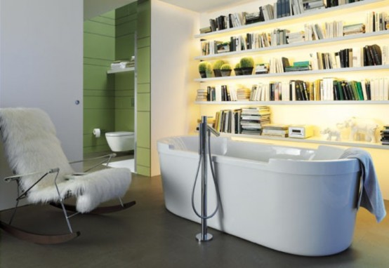 Cozy Library In Your Bathroom