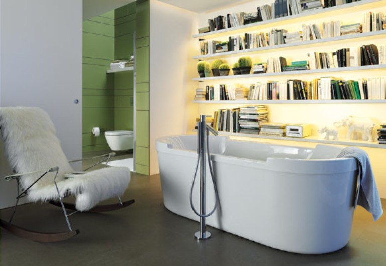 Cozy Library Right In Your Bathroom Digsdigs