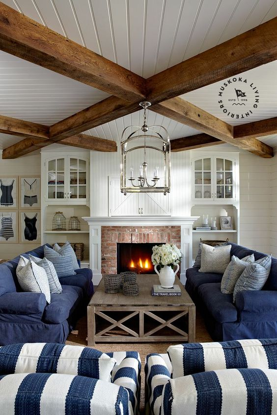 Picture Of cozy living room designs with exposed wooden beams  14