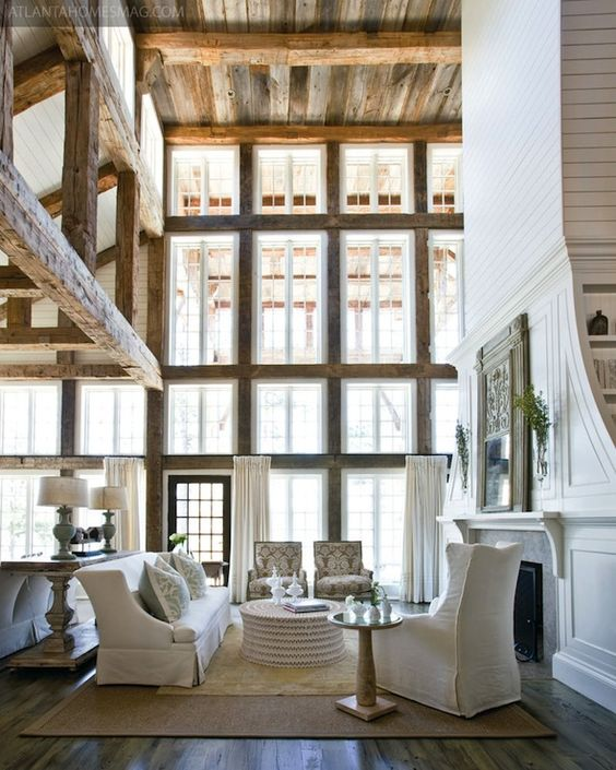 Picture Of cozy living room designs with exposed wooden beams  26