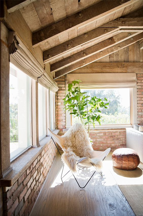 Picture Of cozy living room designs with exposed wooden beams  36