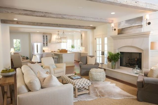 Picture Of cozy living room designs with exposed wooden beams  4