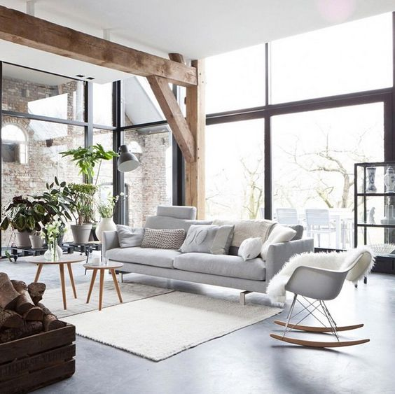 Picture Of cozy living room designs with exposed wooden beams  5