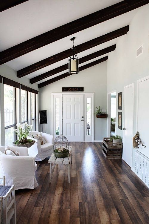 Romantic Room Designs: 36 Cozy Living Room Designs With Exposed Wooden Beams