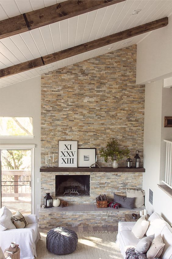 Picture Of cozy living room designs with exposed wooden beams  8
