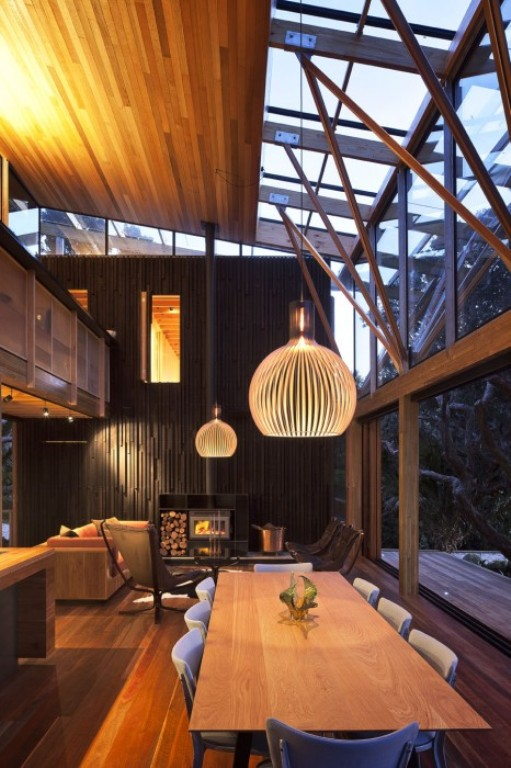 Cozy Modern House Of Natural Wood Digsdigs