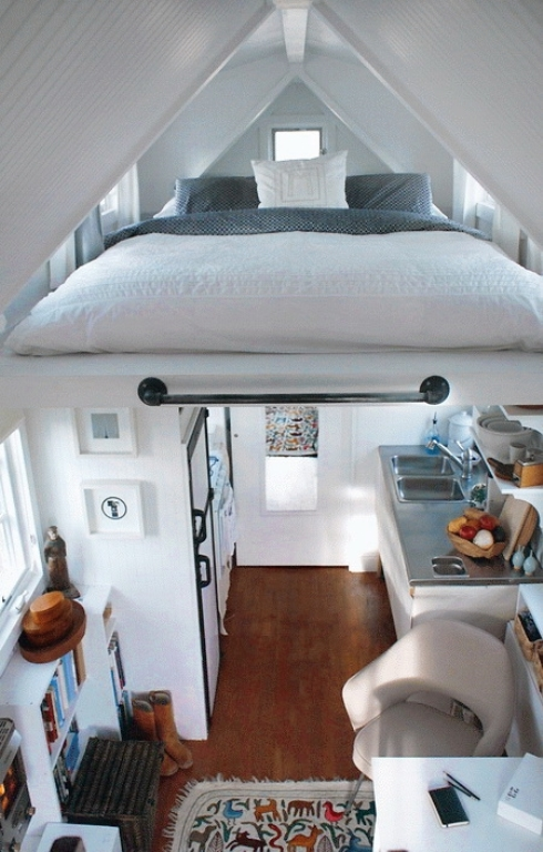 Cozy Modular House With A Levitating Bed