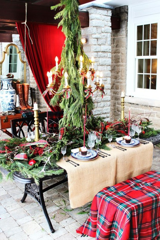 cozy plaid decor ideas for christmas - Tartan Plaid Christmas Decor