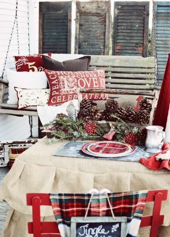 cozy plaid decor ideas for christmas - Plaid Christmas Decor