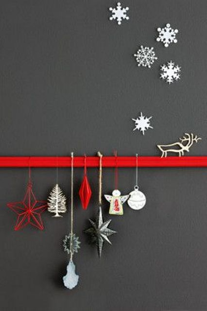 Decorating Ideas > 27 Cozy Red And Grey Christmas Décor Ideas  DigsDigs ~ 110557_Christmas Decorations Ideas Wall