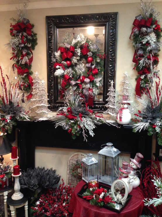 27 Cozy Red And Grey Christmas D 233 Cor Ideas Digsdigs