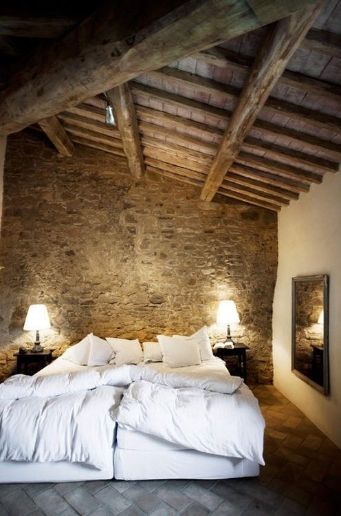 Popular A delicate bedding set is really necessary when it surrounded by raw stone and wood surfaces