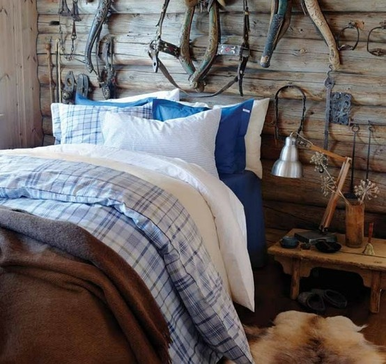 Amazing Cozy Rustic Bedroom Designs Faux fur rugs and blankets could add inviting warmth to the room for all these cold
