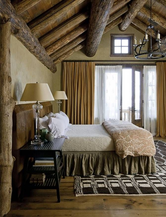 45 cozy rustic bedroom design ideas digsdigs for Rustic elegant bedroom