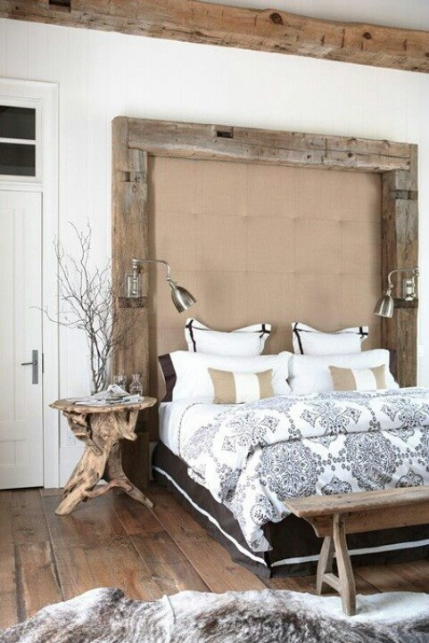 An oversized headboard would become the main focal point of any bedroom.