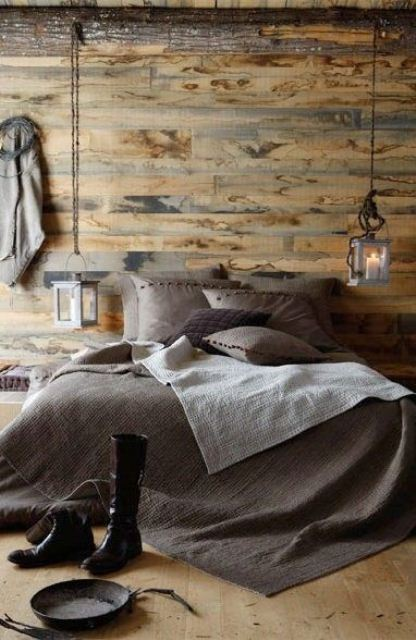 an attic bedroom could easily be decorated in rustic style because