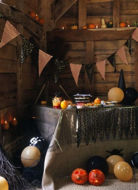 44 Cozy Rustic Halloween Decor Ideas - DigsDigs