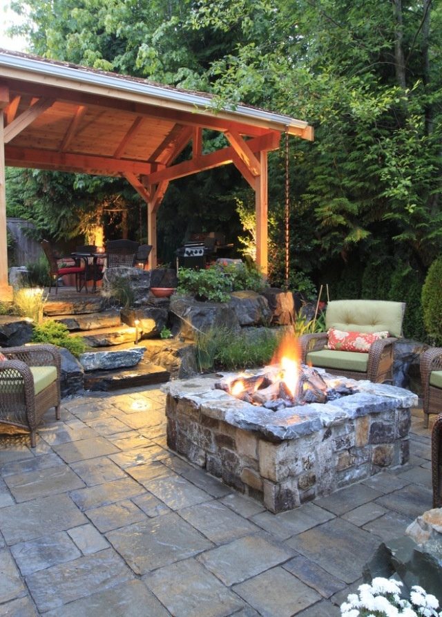 ... Cozy Rustic Patio Designs 47 Calm And Airy Rustic Dining Room Designs