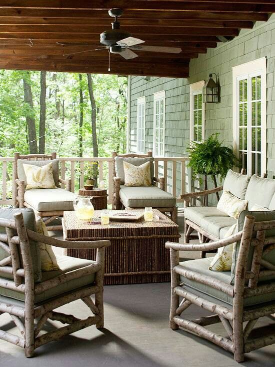 57 cozy rustic patio designs digsdigs - Outdoor furniture design ideas ...