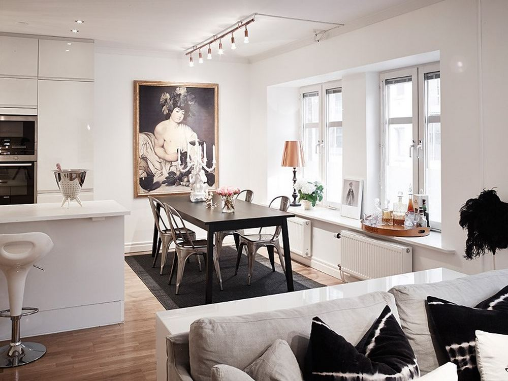 Cozy Scandinavian Apartment With Vintage Touches Digsdigs