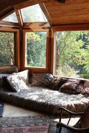 Cozy Sunroom In A Forest