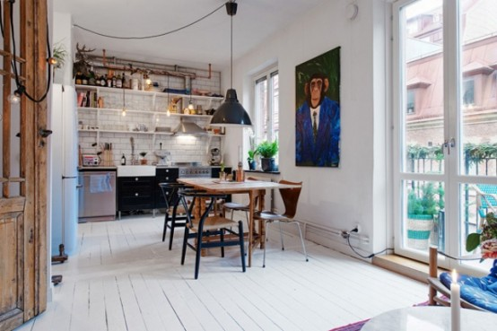Cozy Swedish Apartment With A Humorous Character