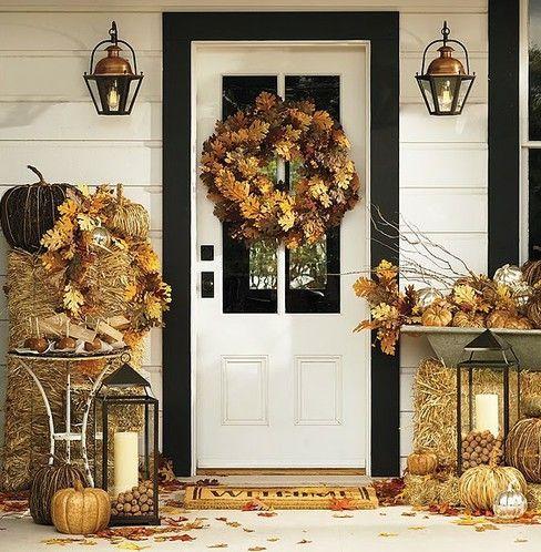 30 Cozy Thanksgiving Front Door D Cor Ideas Digsdigs