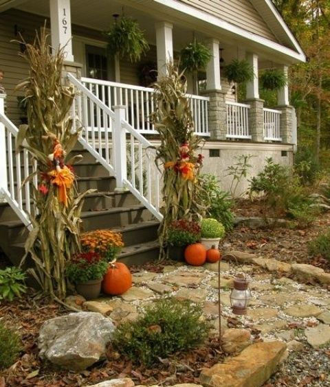 57 cozy thanksgiving porch d cor ideas digsdigs - Creative decoration ideas for home without ripping you off ...