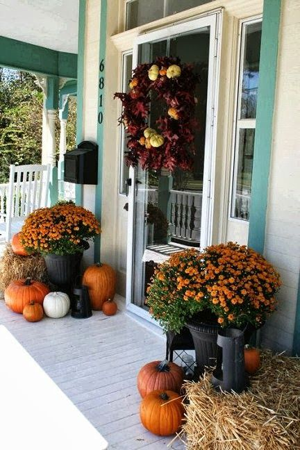 It's a great idea to add a personal touch to a store-bought wreath color-coordinated real and faux materials, including twigs, pumpkins, seedpods, nuts, berries, wheat and leaves.