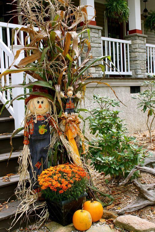 57 cozy thanksgiving porch d cor ideas digsdigs. Black Bedroom Furniture Sets. Home Design Ideas