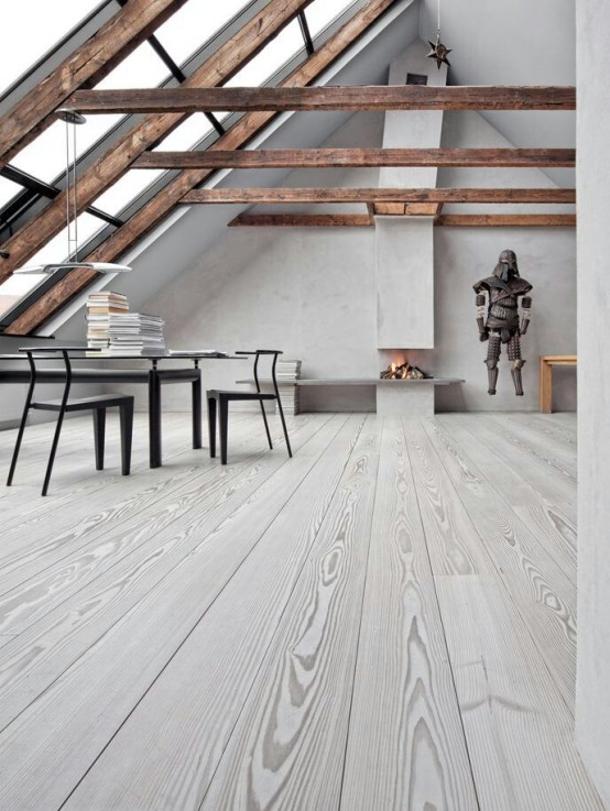 Cozy Whitewashed Floors Decor Ideas - 45 Cozy Whitewashed Floors Décor Ideas - DigsDigs