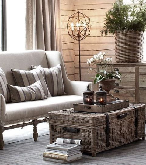 Work In Coziness 20 Farmhouse Home Office Décor Ideas: 37 Cozy Wicker Touches For Your Home Décor