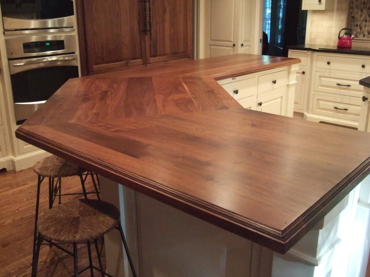 58 cozy wooden kitchen countertop designs digsdigs for Kitchen countertop designs ideas