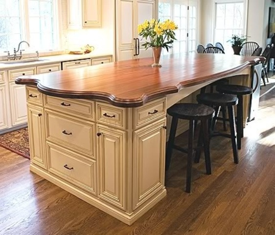 Wood Kitchen Counter Tops : 58 Cozy Wooden Kitchen Countertop Designs DigsDigs