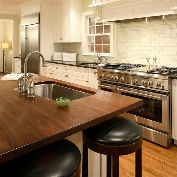 58 cozy wooden kitchen countertop designs digsdigs - Counter island designs ...