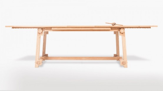 CRAFT 2.0: Modern Table Made With Antique Technologies