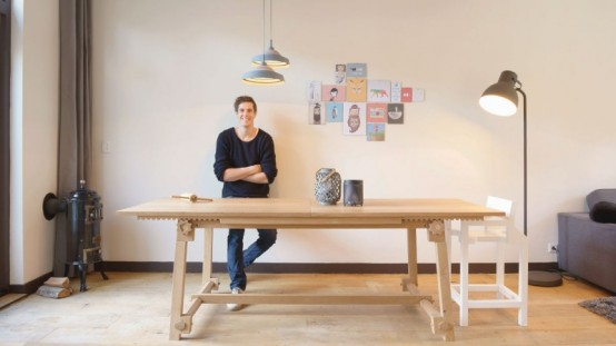 Craft2.0 Modern Table Made With Antique Technologies