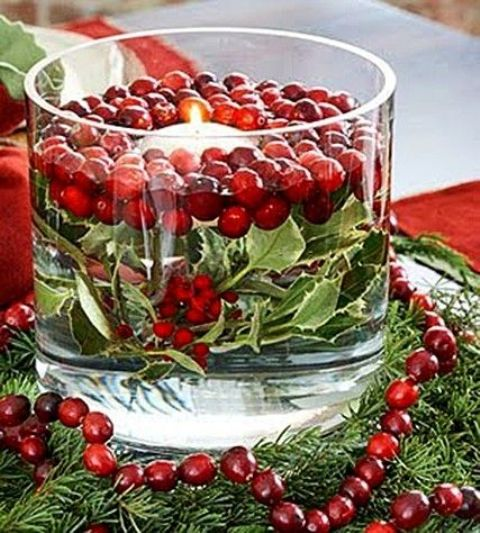 Cranberry christmas décor ideas digsdigs