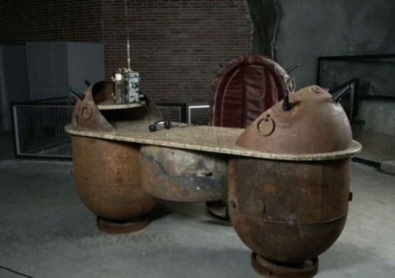 Beautiful Crazy But Very Durable Naval Mines Furniture