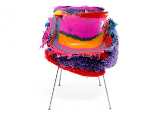 crazy colorful meltdown chair digsdigs. Black Bedroom Furniture Sets. Home Design Ideas
