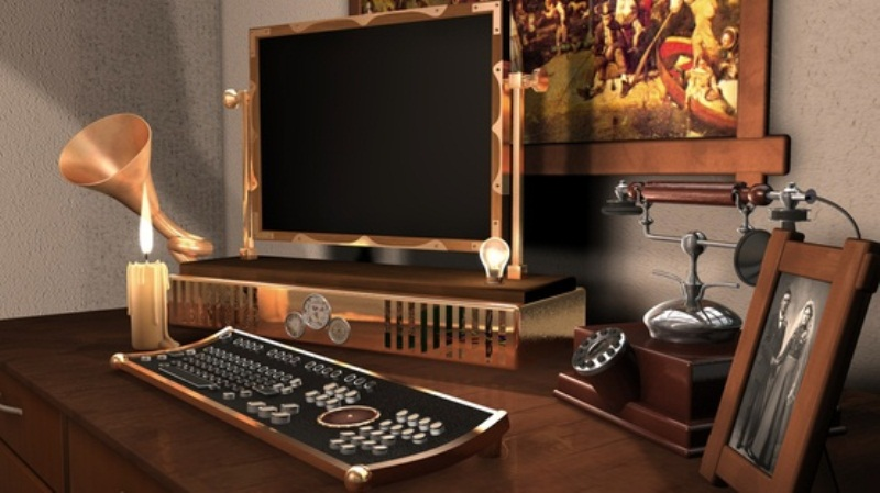 28 crazy steampunk home office designs digsdigs Computer office interior design