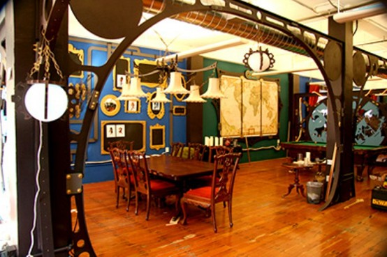 28 Crazy Steampunk Home Office Designs - DigsDigs