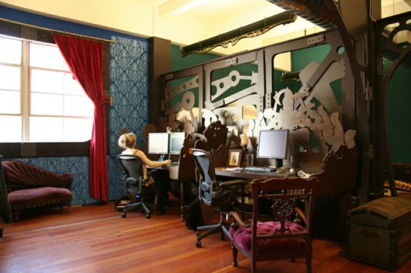 28 crazy steampunk home office designs digsdigs Steampunk interior